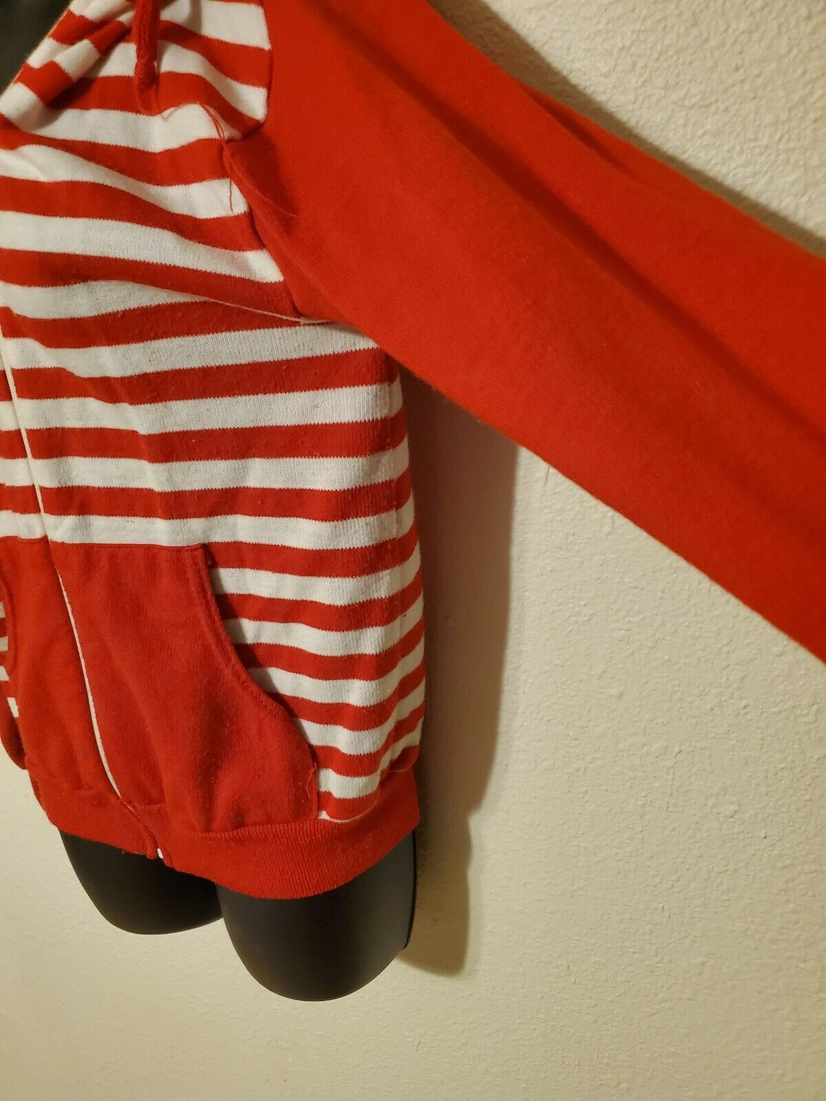 Vintage 70s 80s JCPenney Striped Red Zip Up Hoodi… - image 2