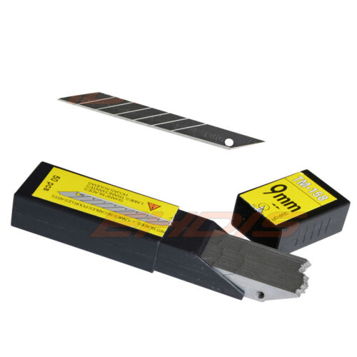 50 Stü 9mm Ersatzklingen Kohlenstoffstahl Snap off 30 Grad Akute Art Blade DE