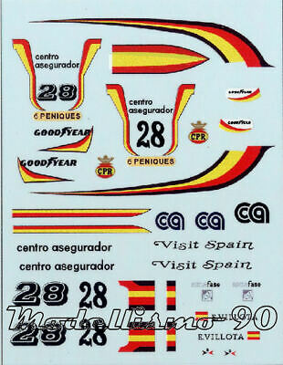 Decal sheet 1//43 Mc Laren M25 F.1 Ford #28 Spanish GP 1978 Emilio de Villota NEW