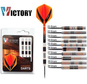 Victory-Darts-Tiger-Orange-and-Black-90-Tungsten-Steel-Tip-Darts-21g-to-30g