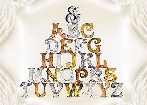 Metallic-Look-Large-4inch-11cm-Wooden-Letters-Free-standing-Alphabet-Name-Plaque