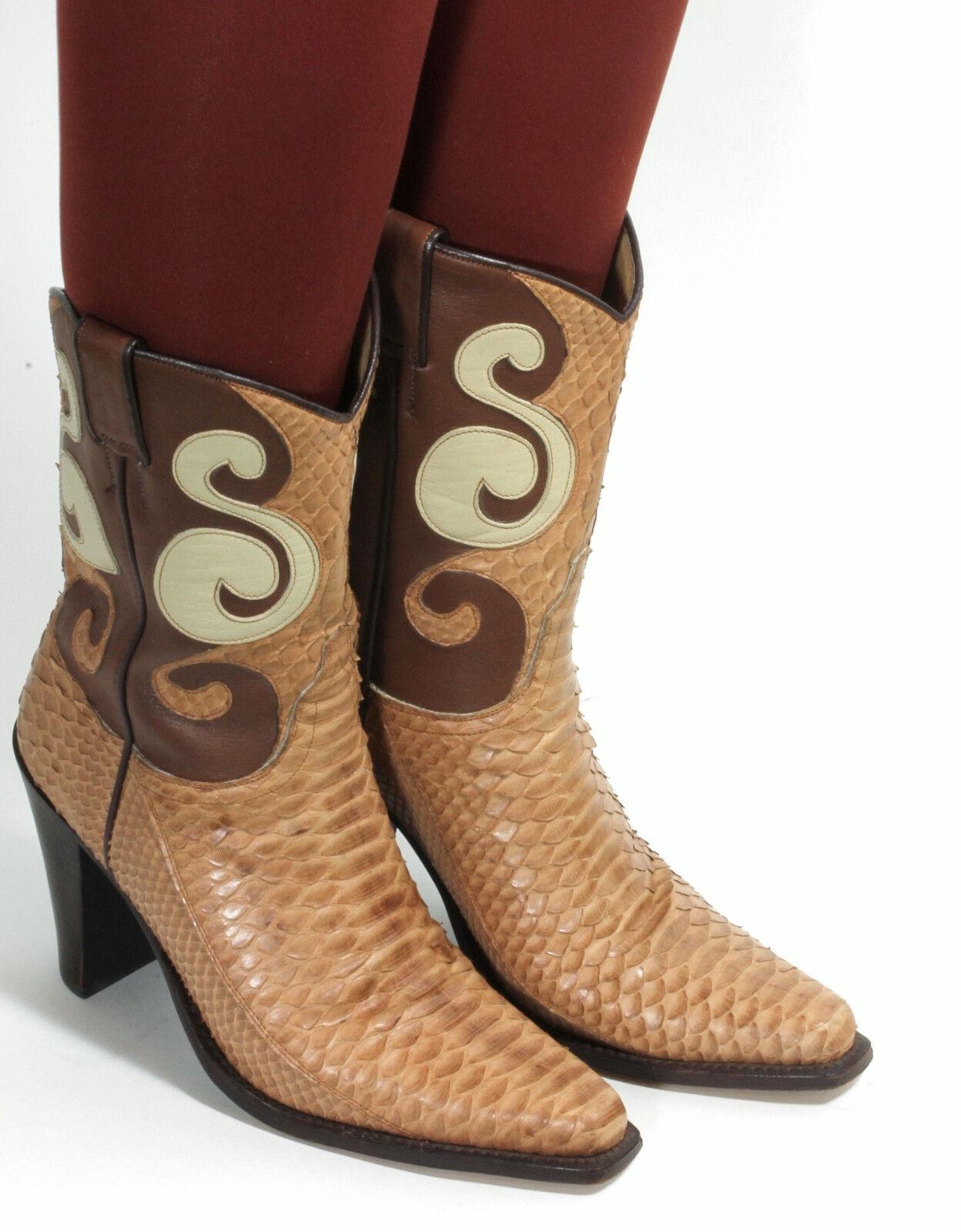 Westernstiefel Cowboystiefel Catalan Style Schlangenleder Stiefel Tony Mora 37