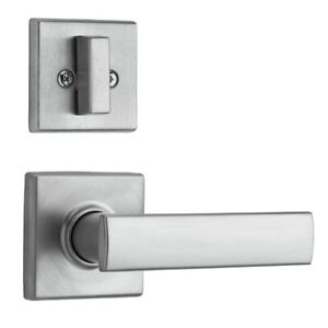 Kwikset 974 Vedani Hall Closet Passage Locking Door Handle Lever Set, Chrome