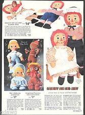 1971 ADVERTISEMENT Doll Raggedy Ann Andy Mattel Baby Tender Love Gingerbread