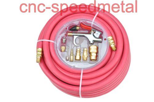 00360 15m Druckluftschlauch mit Schnellkupplung max 20bar rot