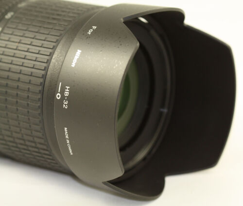 Replacement HB32 Lens Hood For Nikon 18-105mm 18-70mm 18-135mm HB-32 Shade  NEW