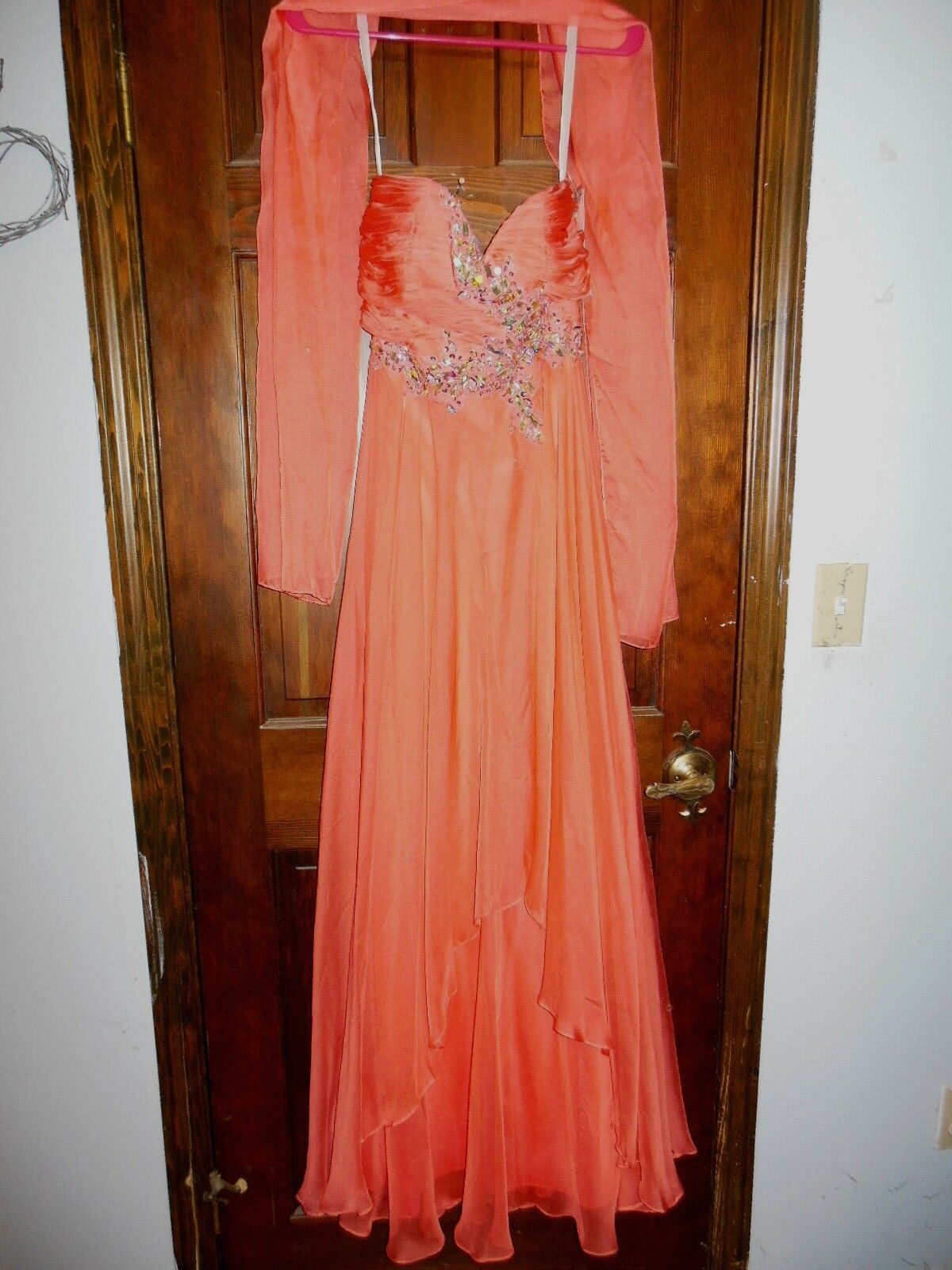 Full Length Sleeveless Prom Dress w Rhinestone Accents, Sz 4, New with Tags