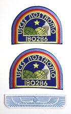 Parkers's Nostromo Alien Movie Uniform  DELUXE Patch Set of 3- FREE S&H