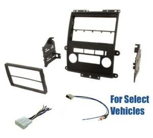 2 Din Car Stereo Dash Wire Kit Combo for some 13-15 Nissan Frontier Titan Xterra