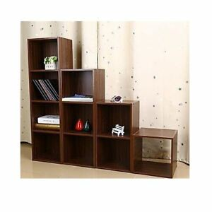 NEW-1-2-3-4-TIER-WOODEN-TEAK-BOOKCASE-DISPLAY-SHELVING-STORAGE-UNITS-WOOD-CUBE