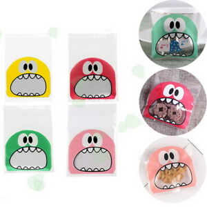 Monster Self Adhesive Packing Gift Bags- Cookie Sweets Shop Party Favour HP034