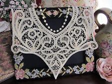 Handmade Battenburg Lace Collar~Beige/Ecru~Victorian Elegance~Floral Design 01~