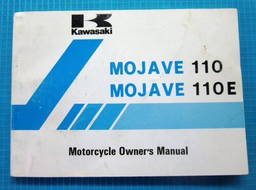 1986 87 Mojave 110 110E KLF110 A1 B1 Owner's Manual