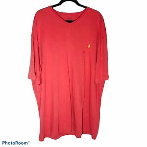 polo-Ralph-Lauren-shirt-short-sleeve-red-cotton-v-neck-new-with-tags-size-2XLT