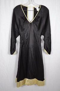 PAUL and JOE SISTER black silk long sleeve A-line dress size 38 (10 ... cb668bd56ee4