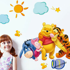 WINNIE-THE-POOH-AND-FRIENDS-WALL-STICKER-DECAL-NURSERY-KIDS-ROOM-DECOR-New-UK