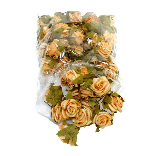 Couleur Litière fleurs de mousse 2cm// 50 St 07 Hell-Orange
