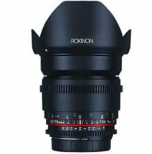New Rokinon Cine DS 16mm T2.2 Cine Wide Angle Lens For Canon EF-S DS16M-C