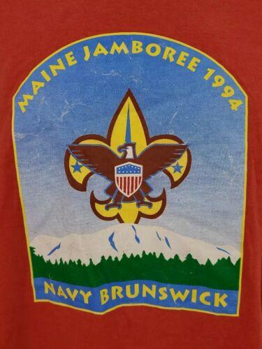 Vintage 1994 Maine Jamboree Navy Brunswick T-shirt