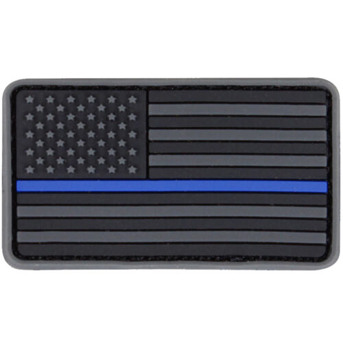Condor 181014 Tactical Hook and Loop Blue//Red Line Mini American Flag PVC Patch