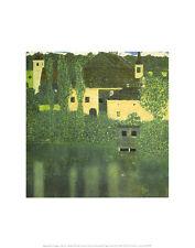 Gustav Klimt Schloss Unterach am Attersee Poster Kunstdruck Bild 36x28cm