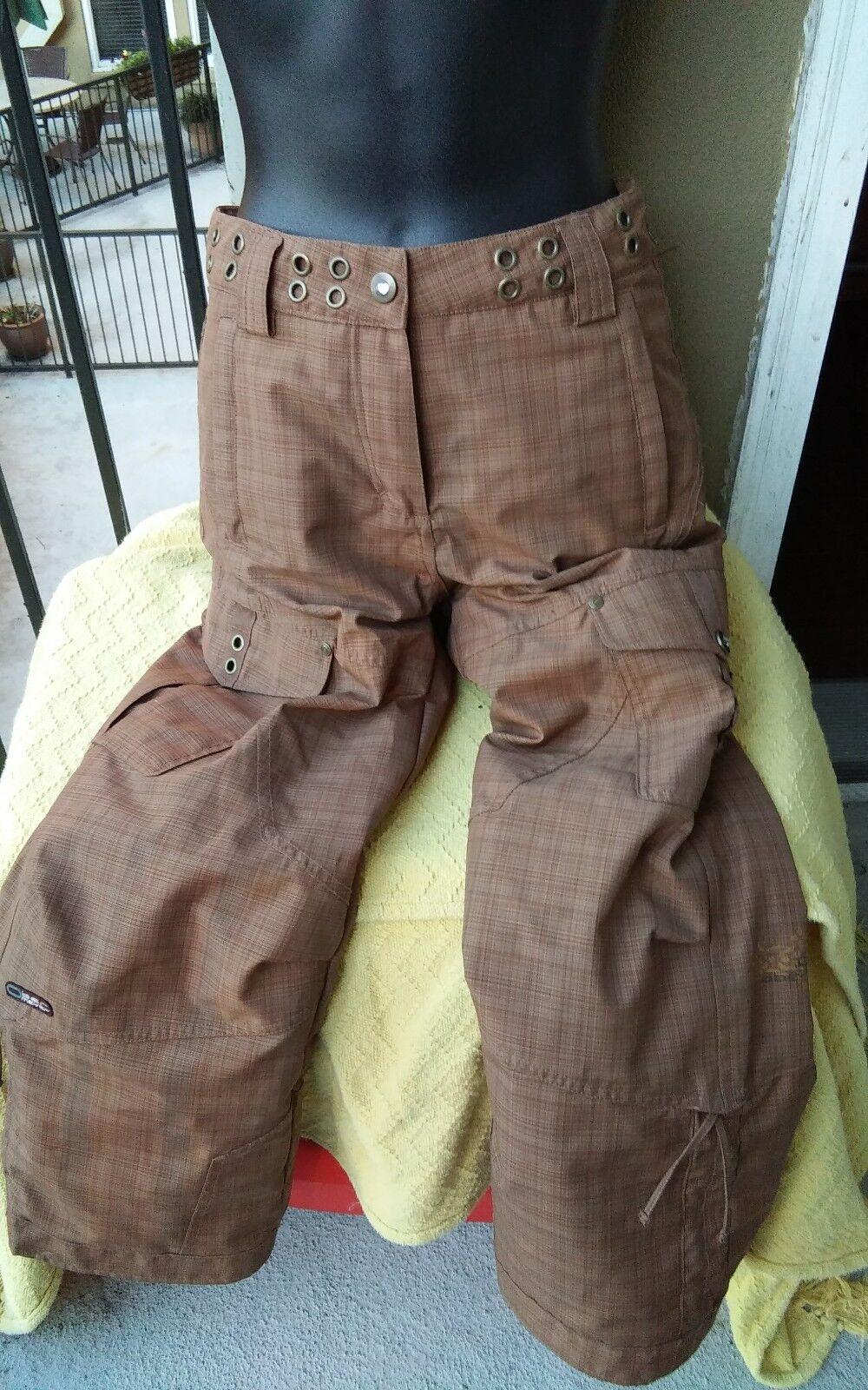 Obermeyer Brown Ski Pants 10 Juniors
