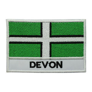 Devon County Flag Patch Iron On Patch Sew On Badge Embroidered Patch