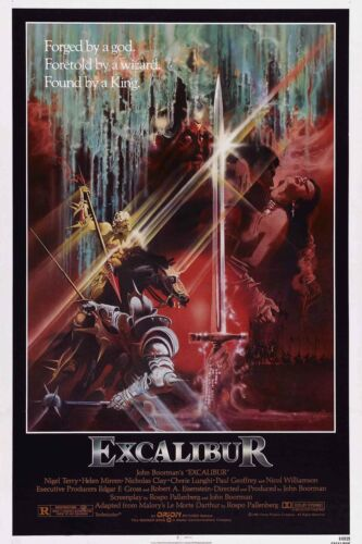Excalibur1 Fantasy Drama Movie Poster Fabric 24x36 Custom Wall Decor Print A-125