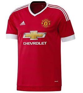 Manchester United FC Gift Boys Adidas Home Kit Short Sleeve Shirt 15-16 Years