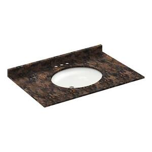 37-034-Vanity-top-with-sink-4-034-spread-Granite-Baltic-Brown-LessCare-PICK-UP-ONLY