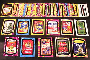 e8c7b656cc3 2008 Wacky Packages Flashback Series 1 FB1 COMPLETE BASE SET of 72 ...