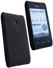 Housse semi rigide noire mat pour LG GT540 Optimus