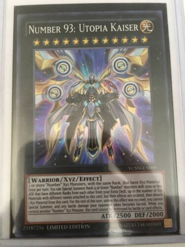NUMBER 93 UTOPIA KAISER YCSWEN009 SUPER RARE MINT CONDITION YUGIOH