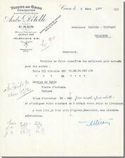 Lettre - André DETOLLE Tissus en Gros Confection à Caen 1927