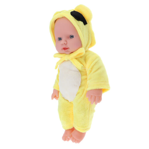 30cm Reborn Doll Lifelike Realistic Baby Doll Gift 12inch Yellow,for Ages 3+