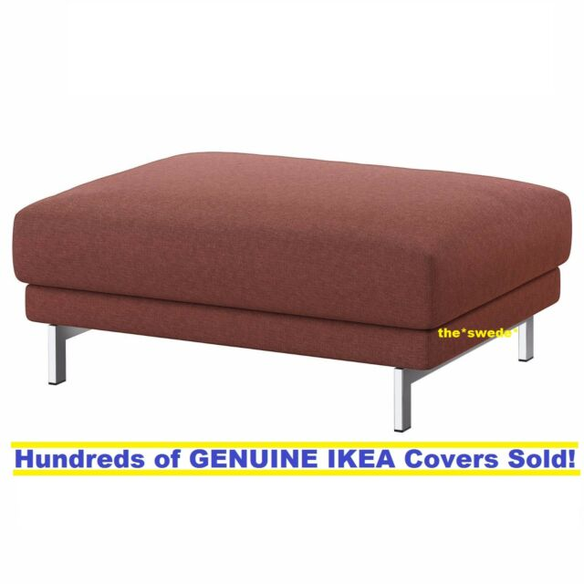 IKEA Nockeby Ottomon SLIPCOVER Cover TALLMYRA Rust Ikea FOOTSTOOL 203.198.46 NEW