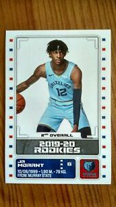 2019-20-PANINI-NBA-EUROPE-EDITION-Ja-Morant-ROOKIE-sticker-RARE