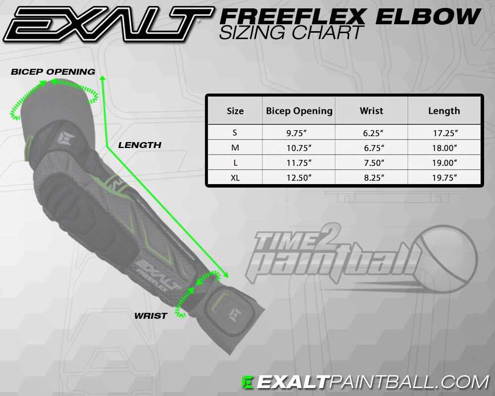 Exalt FreeFlex FreeFlex FreeFlex Elbow Pads - SMALL FREE SHIPPING Paintball Forearm Protection f5016a