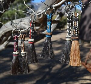 Beautiful-100-Horse-Hair-Key-Ring-Chain-Short-Various-Colors-Great-Gift