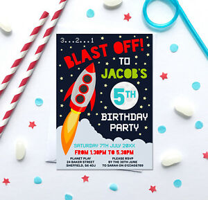 image is loading space themed birthday party invitations any age pack