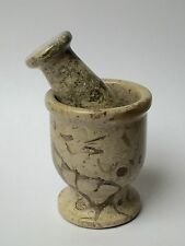 Mortar And Pestle Coral Fossil Spice Herb Salt Pepper Grinder Mortar & Pestle.