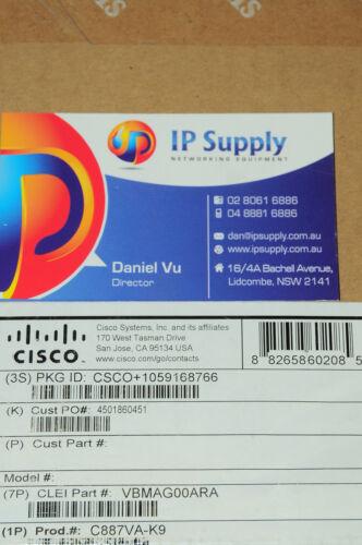 *Brand New* C887VA-K9 VDSL//ADSL Over POTS Multi-mode Router 6MthWty TaxInv