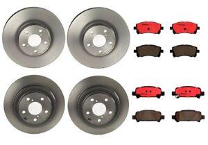 Rear Drill Slot Brake Rotors /& Ceramic Pads For 9-2X Forester Impreza