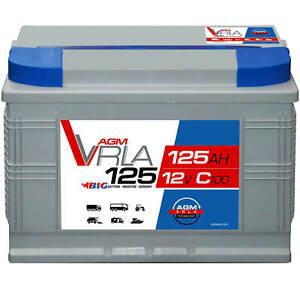 Gelbatterie 120Ah Bootbatterie Boot 12V Versorgungsbatterie Starterbatterie