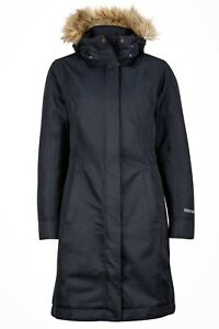 Marmot-Chelsea-Coat-Women-Warmer-cappotto-piumino-per-donna-nero