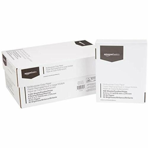 8.5 X 11 Inches Ream Case 4, 000 White Multipurpose Copy /& Paper Printer