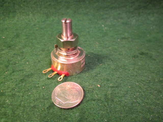 """REON  2 Watt 250K OHM Potentiometer 5/"""" Shaft Lin Taper NOS 1"""