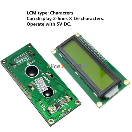 1602 LCD Blue//Yellow HD44780 Character Display Module for Arduino Raspberry Pi