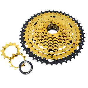 VG-Sports-MTB-10-Speed-Cassette-11-46T-Gold-Bike-Freewheel-Sprocket-for-SHlMANO