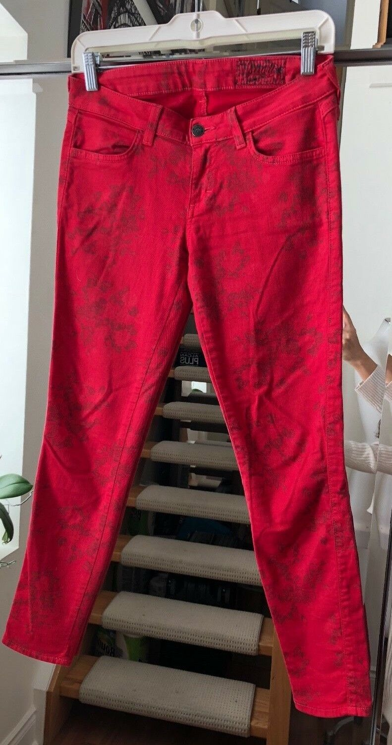 SIWY Hannah Yes I'm Ready Red Skinny Jeans Size 25 Retail  250
